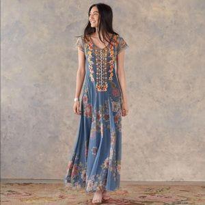 Johnny Was Biya Les Fleurs Floral Mesh Dress. XS